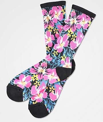 Empyre Smells Like Floral Crew Socks