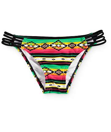 Empyre Soak Up The Sun Rasta Strap Side Bikini Bottom