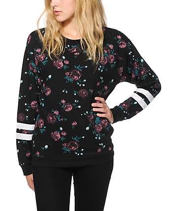Empyre Sorel Floral Athletic Stripe Crew Neck Sweatshirt