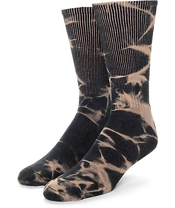 Empyre Spirit Bleach Dye Black Socks