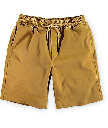 Empyre Stack Up Tobacco Easy Waist Chino Shorts