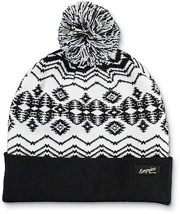 Empyre Stay Golden Pom Beanie
