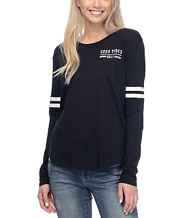 Empyre Stefan Black Mesh Long Sleeve T-Shirt