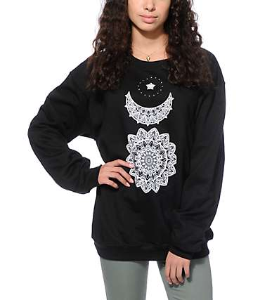 Empyre Sun Moon Star Crew Neck Sweatshirt