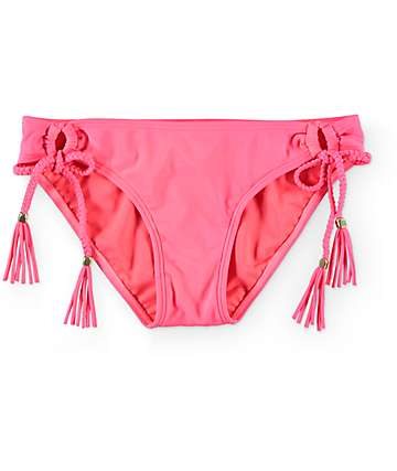 Empyre Sunkissed Neon Coral Side Tie Bikini Bottom