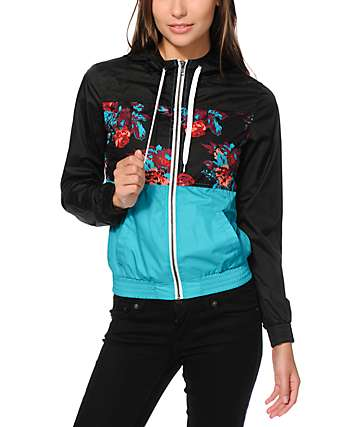 Empyre Sutton Floral Block Windbreaker Jacket