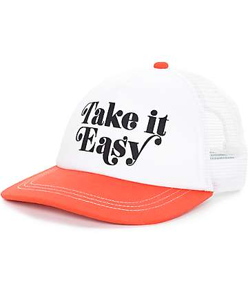 Empyre Take It Easy White, Red Trucker Hat