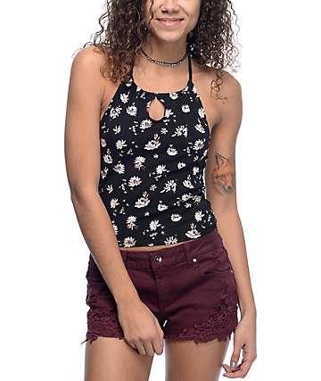 Empyre Tamara camiseta cabestro en negro floral
