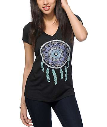 Empyre Tapestry Dreamcatcher V-neck T-Shirt