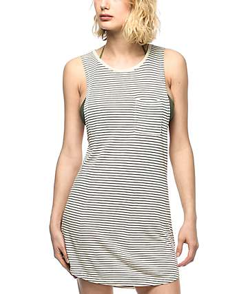 Empyre Tatiana Black & White Striped Swim Cover Up