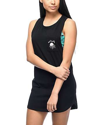 Empyre Tatiana Black Muscle Tank Dress