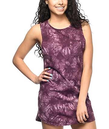 Empyre Tatiana vestido de playa con efecto tie dye en color malva