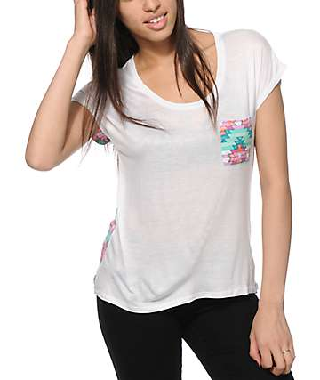Empyre Teagan Tribal Pocket Muscle T-Shirt