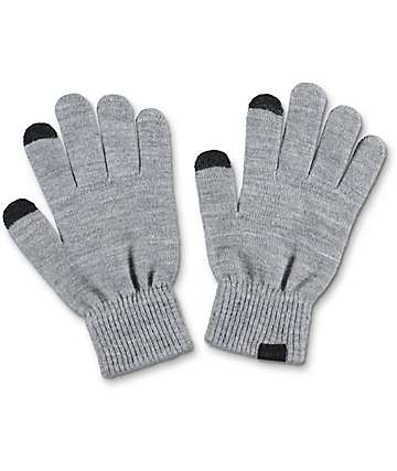 Empyre Techy Grey Knit Gloves