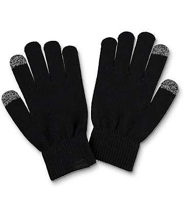 Empyre Techy Knit Black Gloves