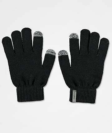 Empyre Techy Tachy Black Knit Gloves