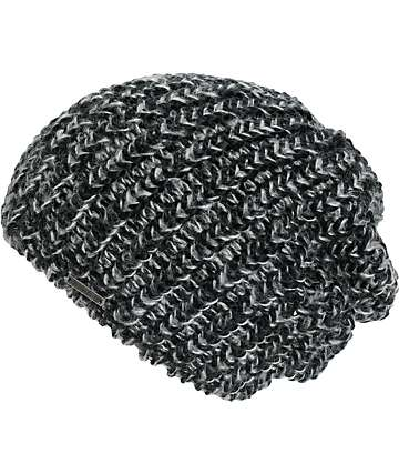 Empyre Tess Black & Grey Marled Beanie