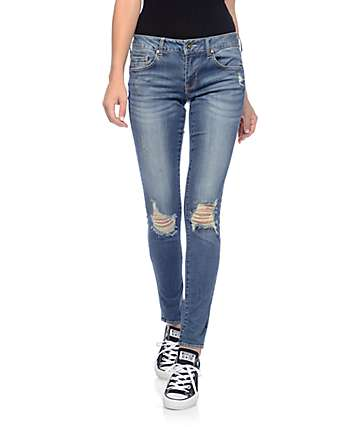 Empyre Tessa Medium Big Wave Destroyed Skinny Jeans