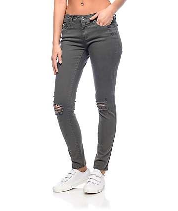 Empyre Tessa jeans rotos en color verde olivo