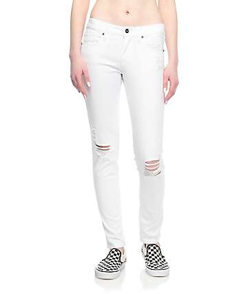 Empyre Tessa skinny jeans rotos en blanco