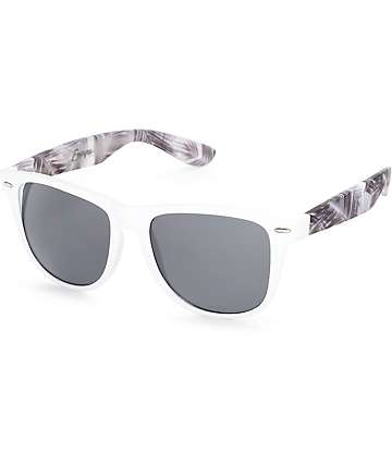 Empyre The Palms White & Black Sunglasses