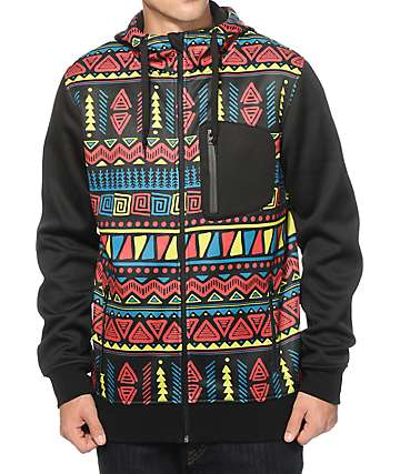 Empyre The Riot Squiggle Print Tech Fleece Jacket