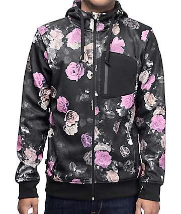 Empyre The Riot chaqueta polar con cremallera en negro y floral