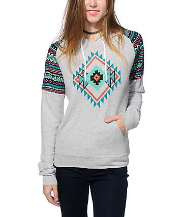 Empyre Theo Multi Tribal Knit Hoodie