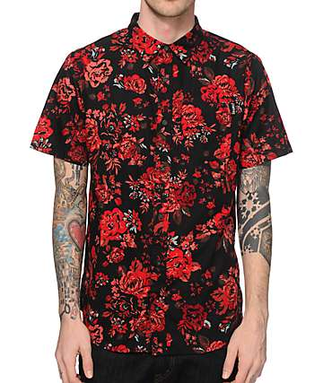 Empyre Thorn Rose Button Up Shirt