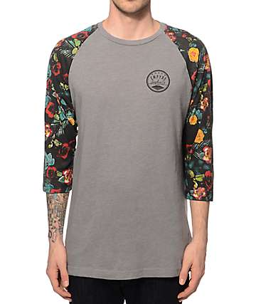 Empyre Thorny Floral Baseball T-Shirt