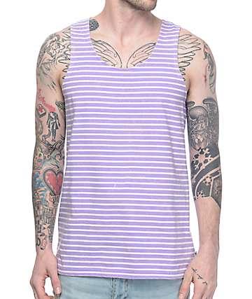 Empyre Tides camiseta sin mangas a rayas en morado