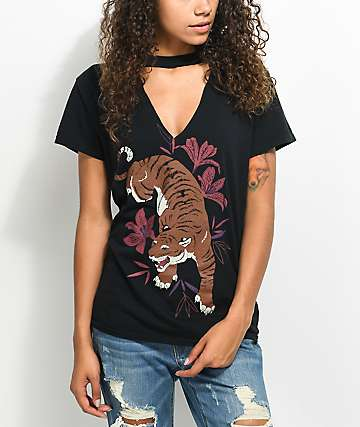 Empyre Tiger Black Choker T-Shirt
