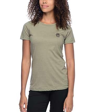 Empyre Tiny Hamsa Olive T-Shirt