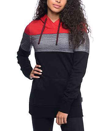 Empyre Torrey Red & Black Tech Fleece Hoodie