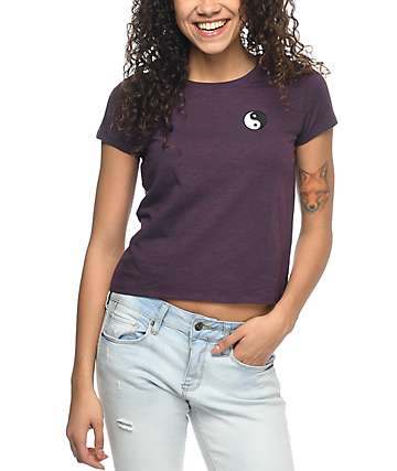 Empyre Tove camiseta bordada en color vino