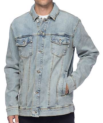 Empyre Trapper Light Pastel Blue Denim Jacket