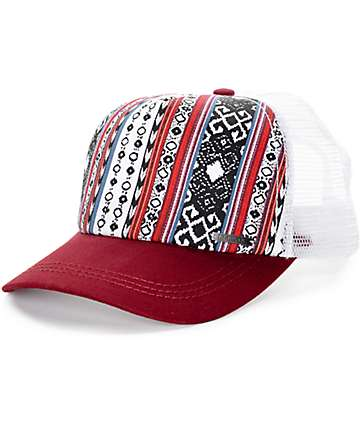 Empyre Traveler White & Dark Red Trucker Hat