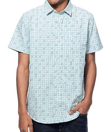 Empyre Trifecta Blue Triangle Button Up Shirt