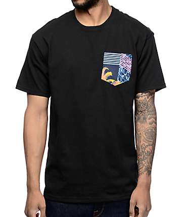 Empyre Tropicool Black Pocket-Shirt