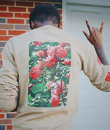 Empyre Vertical Rose Natural Long Sleeve T-Shirt