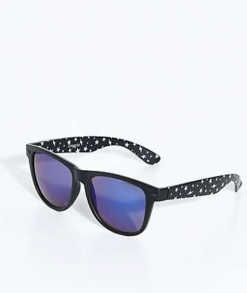 Empyre Vice Stars Matte Black & Blue Sunglasses