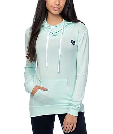 Empyre Vienna Not Sorry Green Cowl Pull Over Hoodie