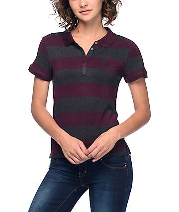 Empyre Vinny Block Stripe Polo Red T-Shirt