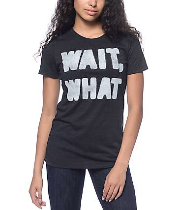 Empyre Wait, What Crew Neck Black T-Shirt