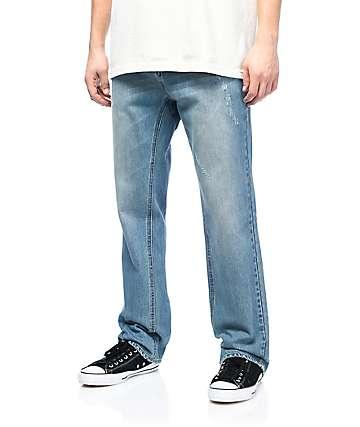 Empyre Warehouse jeans relajados en azul mediano