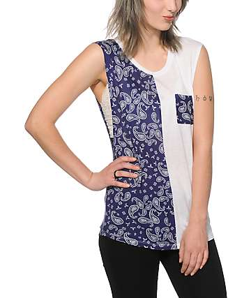 Empyre Warren Bandana Block Muscle Tank Top