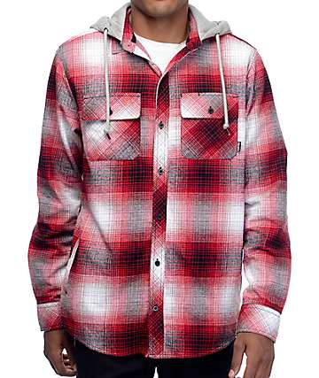 Empyre West Coast Red Shadow camisa de franela con capucha