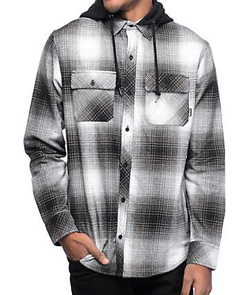 Empyre Westcoast Black Shadow Hooded Flannel