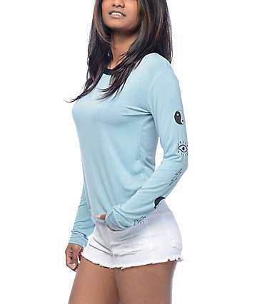 Empyre Westie Blue Yin & Yang Long Sleeve T-Shirt