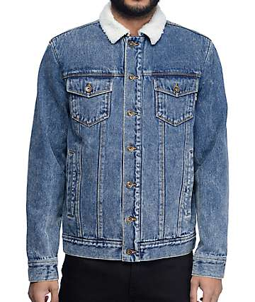 Empyre Wrapper Sherpa Lined Denim Jacket